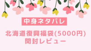 北海道 復興福袋 ネタバレ 中身 人気