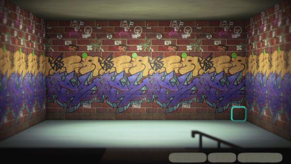 ストリートアートのかべ あつ森 ローラン 壁紙 かべがみ 非売品